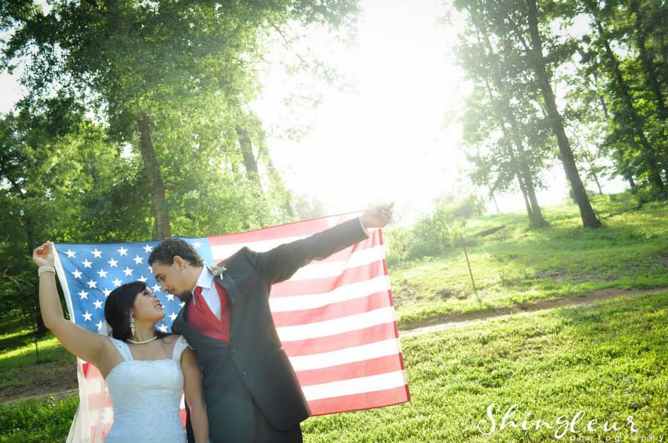 Shingleur Photography , from  Tang + DJ 's red, white and blue wedding at  The Barn