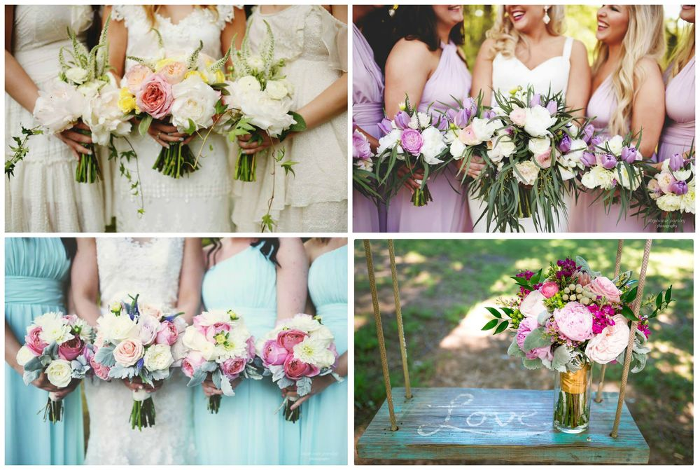 Stephanie Parsley Photography , from  Samantha + Danny 's wedding,  Mackenzie + Tyler 's wedding, and  Jessica + Daniel 's wedding;  Tryston Hines Photography , from  Katie + Alan 's wedding.  Some of my favorite bouquets! Our flowers are the best, and they're always getting better.