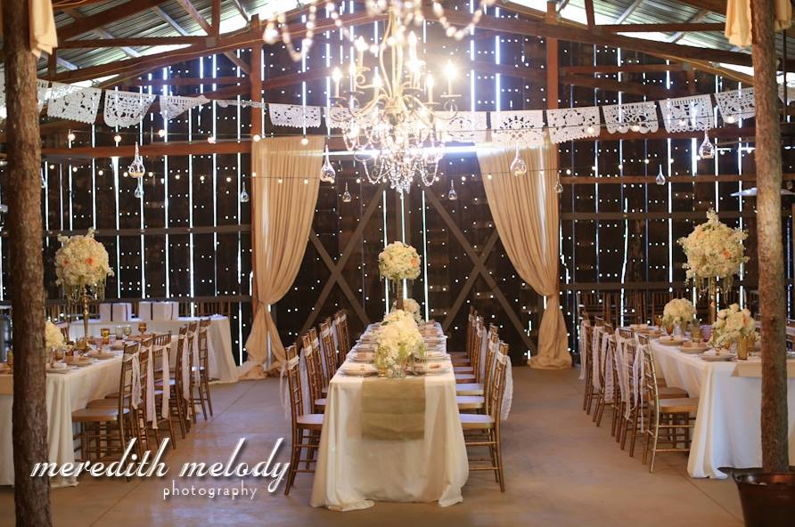 Meredith Melody Photography . Has The Barn ever looked prettier than it did for  Ashley + Ivan 's stunning wedding?! I think not.