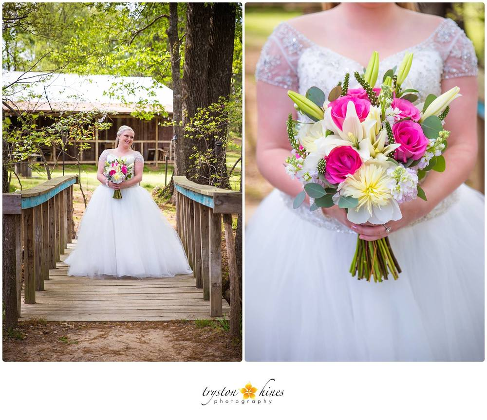 Tryston Hines Photography, from Amber's bridal session. We make bouquets for our brides' sessions, and they're always the perfect detail!