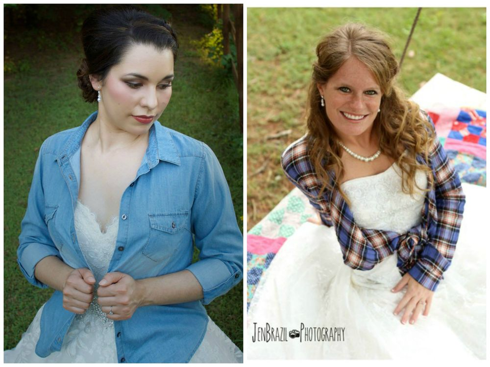 Martin's Photography, from Monica's bridal session. Jen Brazil Photography, from Cathryn + Tyler's wedding at The Barn.