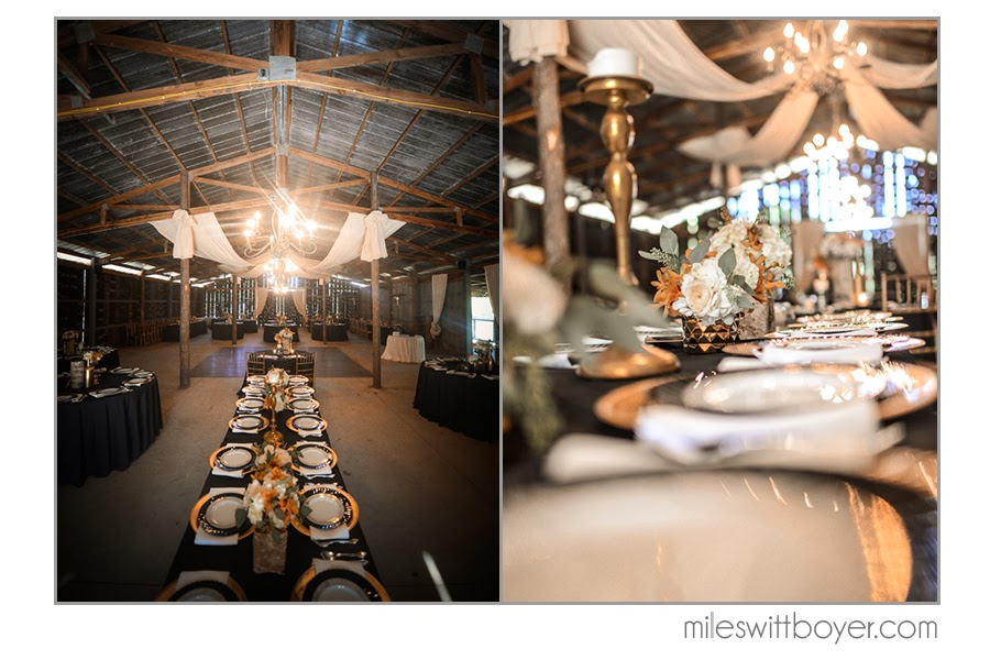 Miles Witt Boyer . Every detail from  Lauren + Jack 's wedding was gorgeous. Their elegant color scheme made The Barn look extra cozy and beautiful!