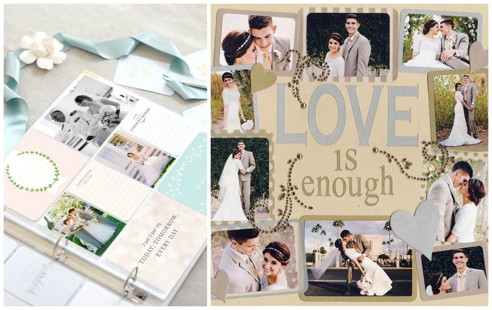 The Southern Weddings Shop ;  Scrapbook.com