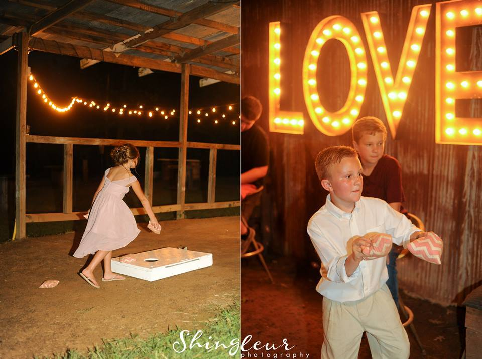 Shingleur Photography , from  Cassie + Kyle 's wedding at The Barn. Kids having fun and behaving... this is what we like to see! ;)