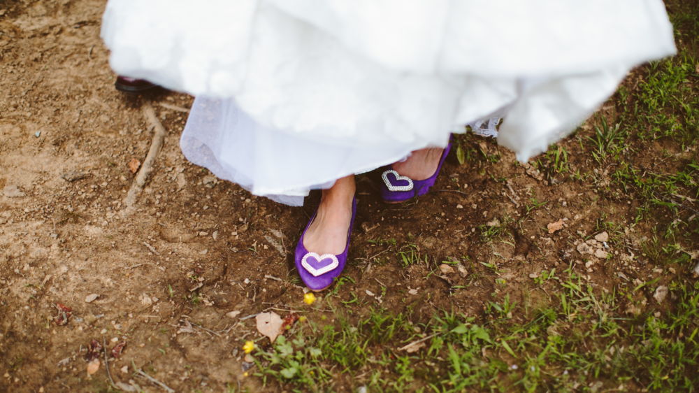 From  A+J's  purple boho wedding at The Barn.   Photo by  Allison Harp Photography