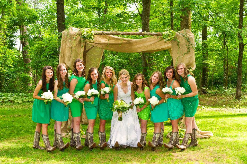 From  Jaclynn + Tyler's  Gorgeous Green Wedding at The Barn Photo by  Kimberly Brackins Creative Poirtraiture
