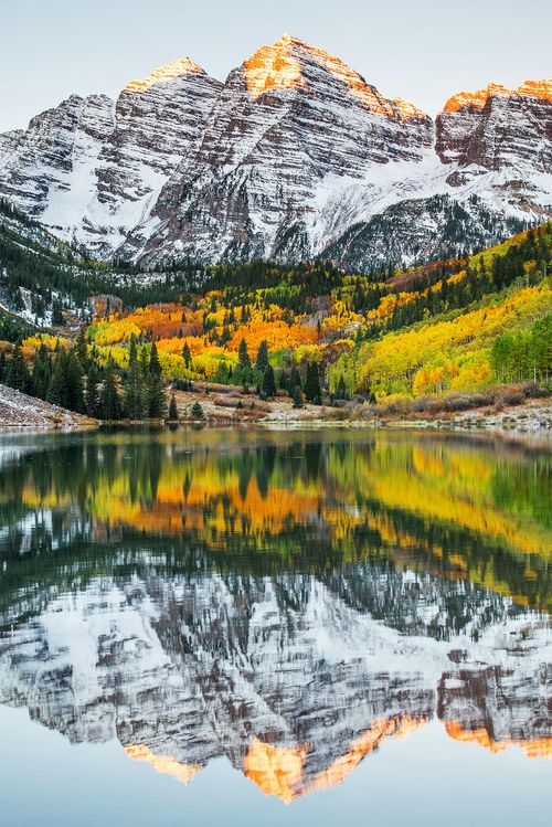 Landscape & Animals . Want to go somewhere romantic that's in the US? Nothing is prettier than a road trip to Aspen in the fall!