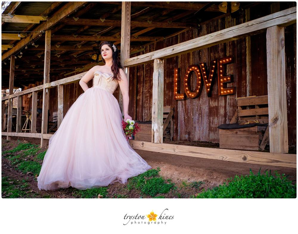 Tryston Hines Photography. My jaw dropped when I saw Katie's stunning blush + ivory Vera Wang gown! This dress is what dreams are made of.