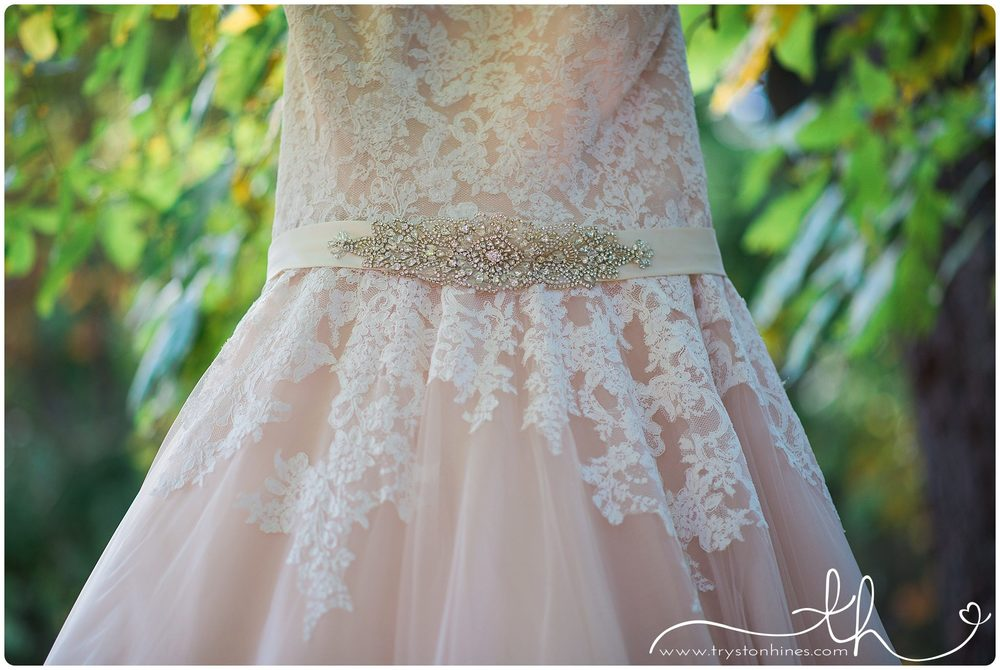 Tryston Hines Photography. Jaime's beige dress was not only a beautiful color, but it also had some of the prettiest details I've ever seen on a dress. That lace and belt... totally swoon-worthy!