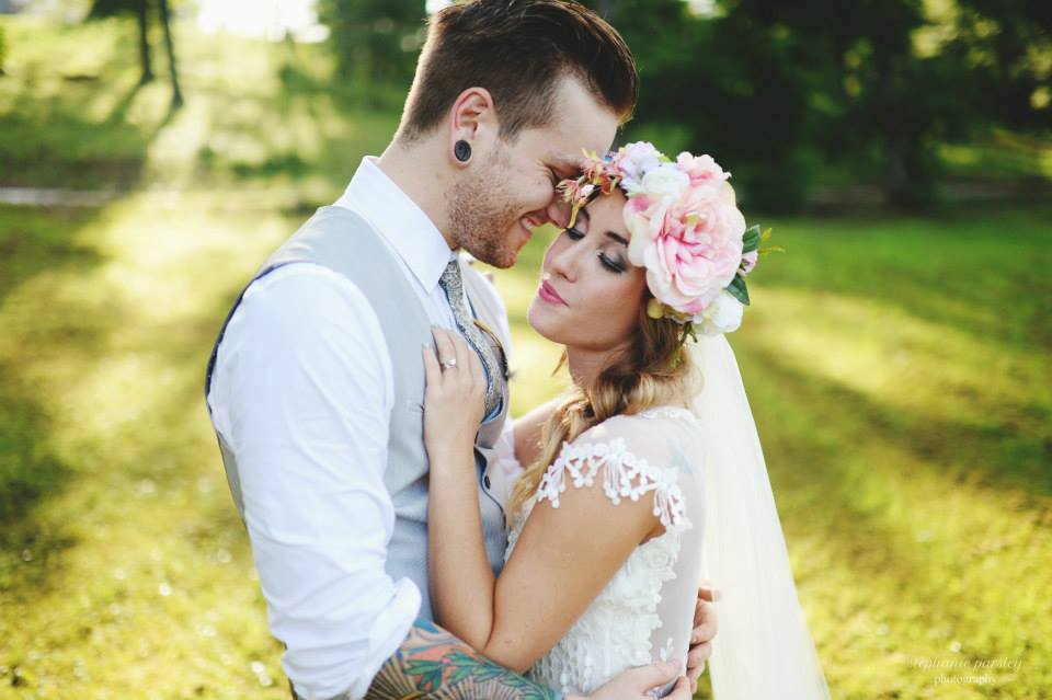 Stephanie Parsley Photography . You can see a few of the gorgeous details from  Samantha 's boho-chic bridal gown in this photo, but check out the full thing  here .It was gorgeous!