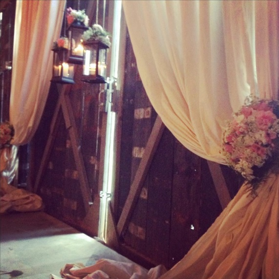 From  our Instagram . This photo is from Teresa + James' elopement at The Barn last fall! LOVE an inside The Barn wedding!