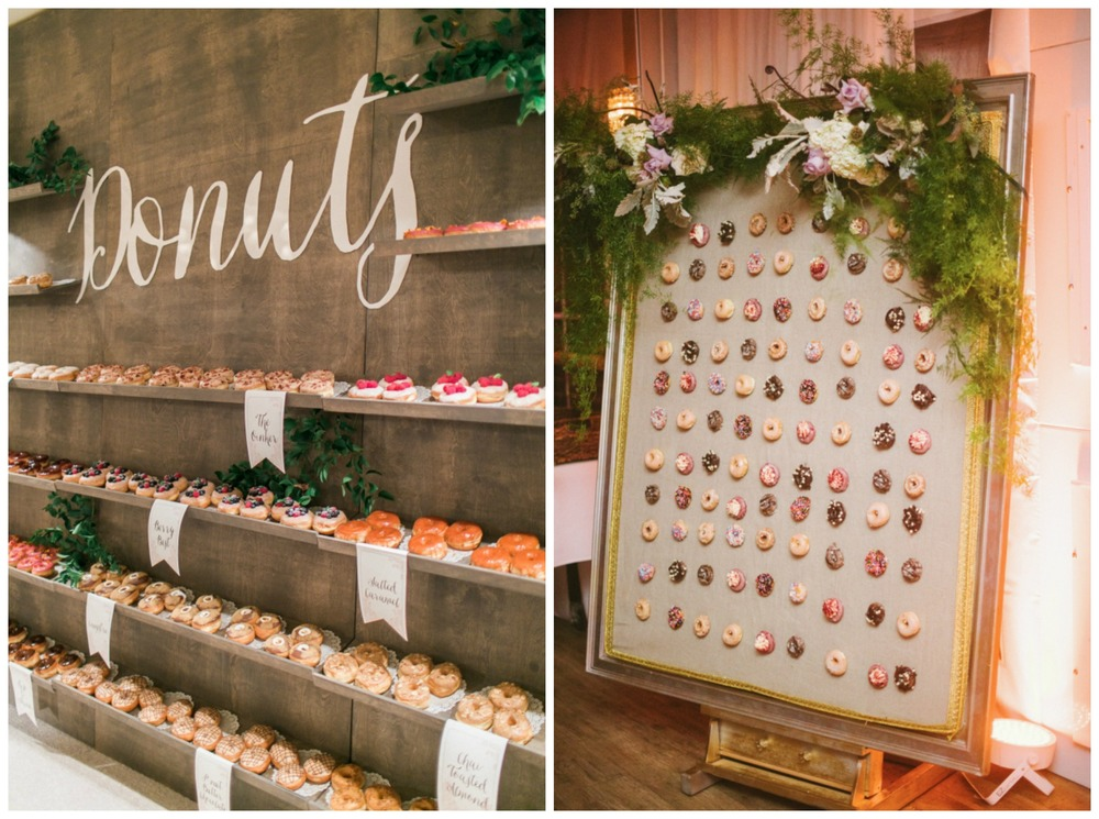 Style Me Pretty; Style Me Pretty. DONUT WALLS! Best wedding detail ever. If any of you Barn Brides plan on having a donut wall, please invite me.