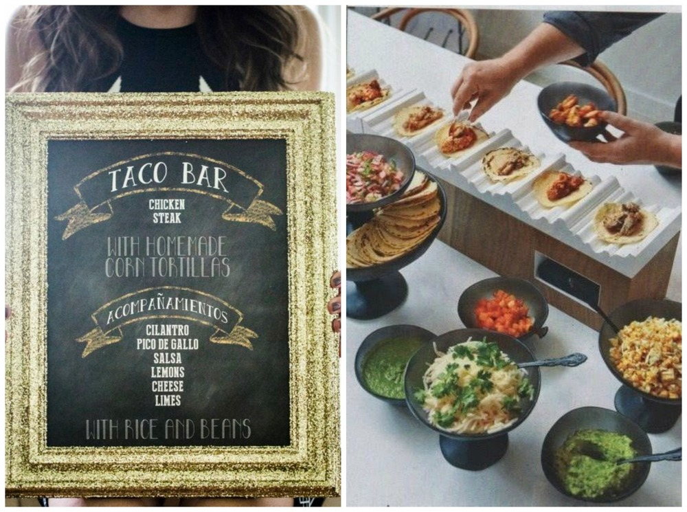 ModWedding; My Wedding Reception Ideas. DIY food is fun! Everyone loves a taco bar!