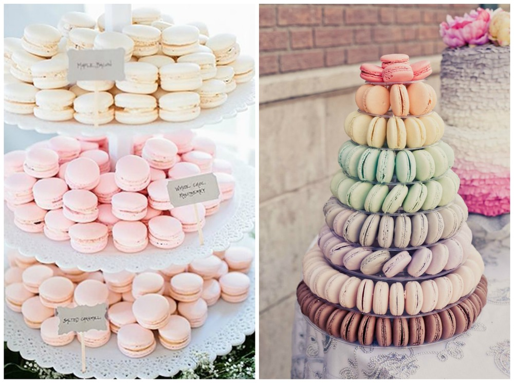 Fab Mood; The Perfect Palette. The macaron trend isn't going anywhere soon! These sweet, colorful desserts are the perfect addition to your cake table.