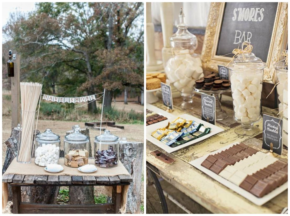Wedding Wire; Catch My Party. I sincerely hope the s'mores bar trend never fades. Our fire pit was made for s'mores bars! Just sayin'.