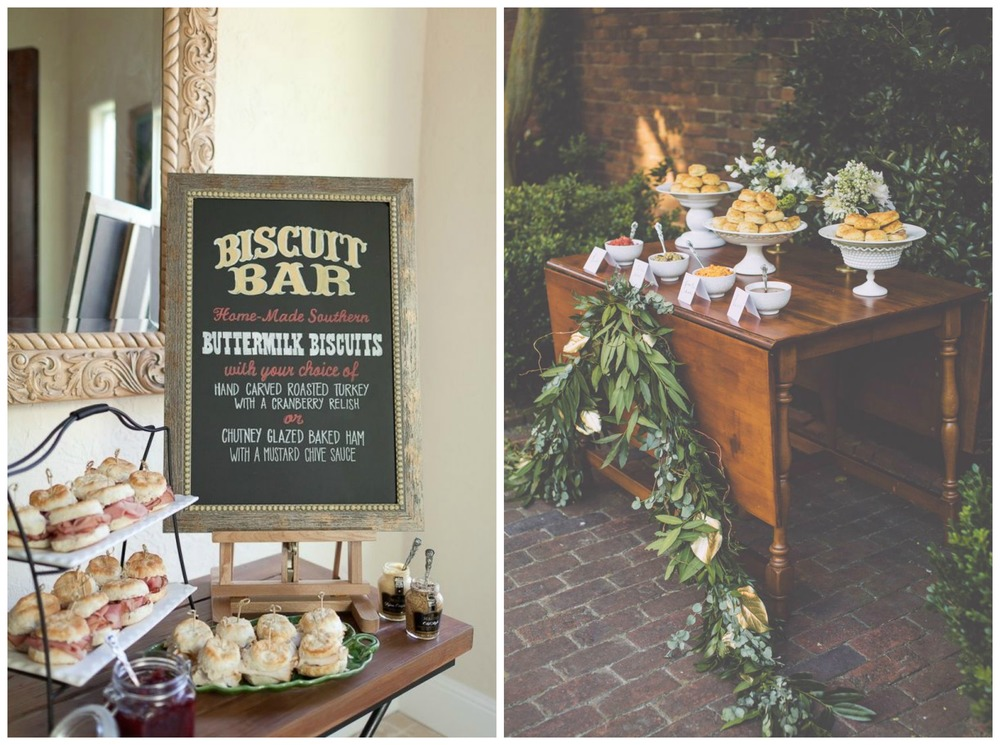 Linen Tablecloth; Weddings Unveiled. Every Southern gal needs a biscuit bar!
