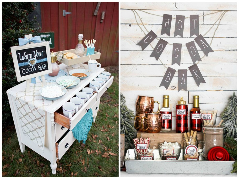 Brides; Hawthorne and Main. Hot cocoa bars are perfect for winter weddings, and they're fun for kids and adults alike.