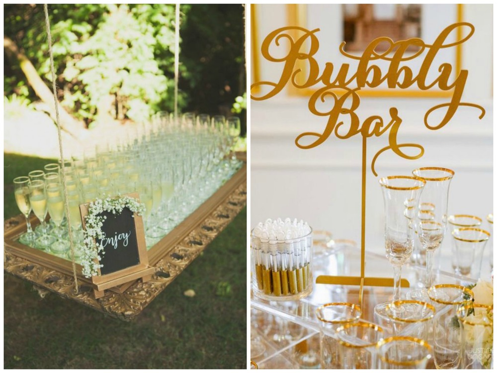 Cedarwood Weddings; Style Me Pretty. A champagne bar is about as elegant as it gets!