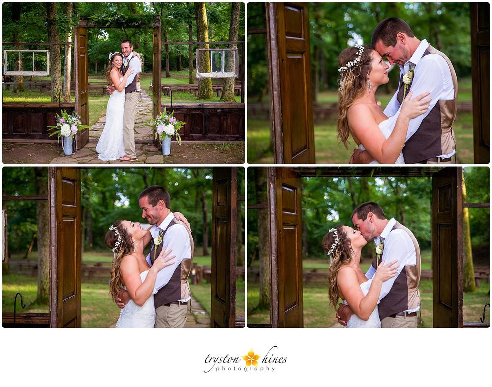 Tryston Hines Photography , from  Breanna + Bryan 's wedding. A simple, boho-chic crown for the most laid-back bride.