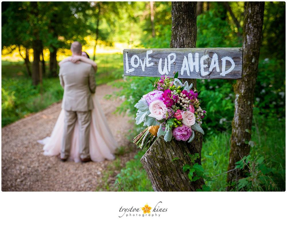 Tryston Hines Photography , from  Katie + Alan 's wedding. One of our romantic, sweet signs on the drive to The Barn. :)