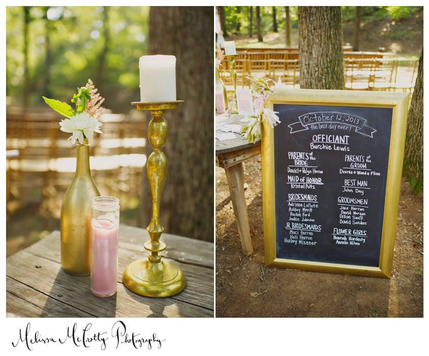 Melissa McCrotty Photography , from  mine + Richard 's wedding. I made several signs for our wedding, including this chalkboard sign that we used instead of wedding programs!