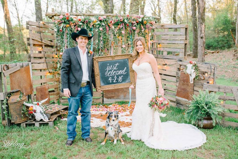 Sterling Imageworks , from  Morgan + Wager 's completely ridiculously amazing elopement. They brought their pup, Mabel, along to watch them say I do... we loved it!