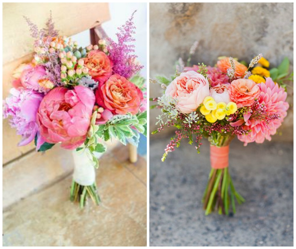 Glamour and Grace; Wedding Chicks. A bright bouquet is a must for a morning wedding!