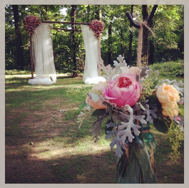 Instagram photo, from Megan + Daniel's wedding. One of my favorite altars, and some of my favorite flowers!