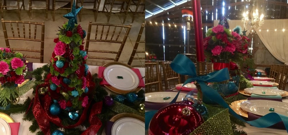 Instagram photos from a bright and colorful Christmas party we hosted at The Barn this past weekend