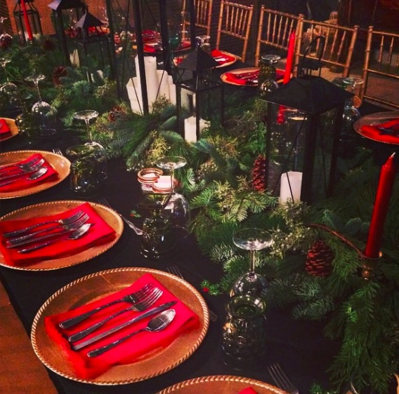 Instagram snap from a Christmas party at The Barn back in 2014. Barn Christmas parties are always gorgeous!