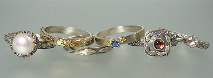 A sample of the Ever After Engagement and Wedding Ring Collection