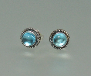 Gemstone Button Earrings - great for every day wear