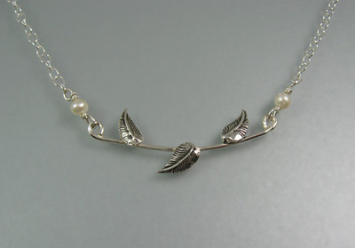 Leaf Vine Necklace - perfect for any neckline