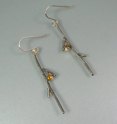 Long Branch Earrings with Citrine