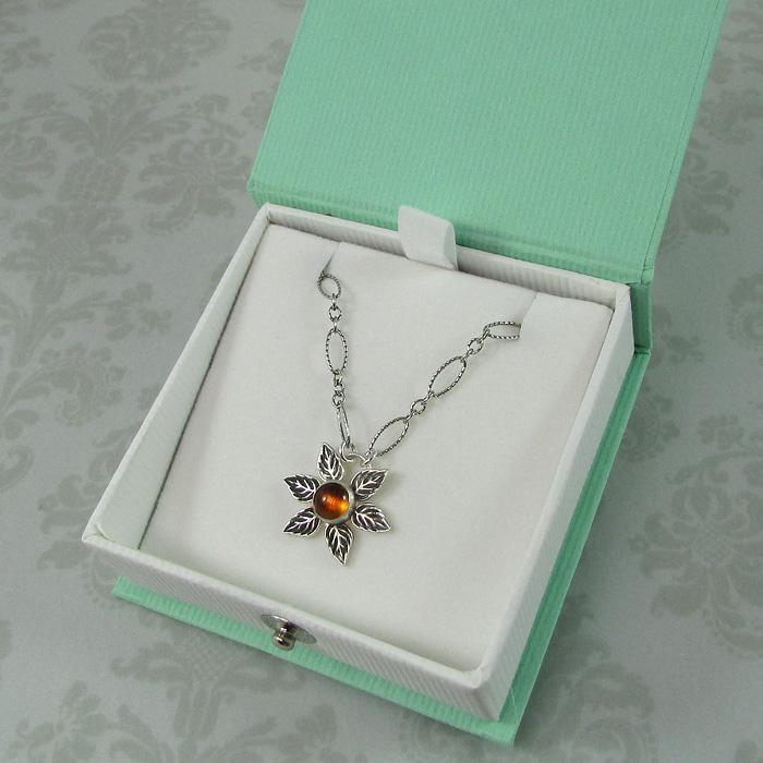 Modern Sunflower Necklace
