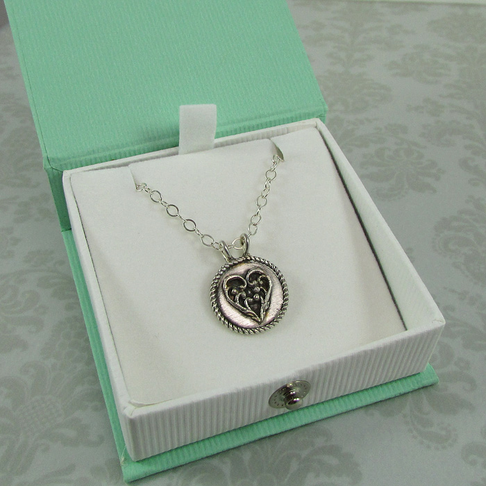 Vintage Heart Charm Pendant Necklace