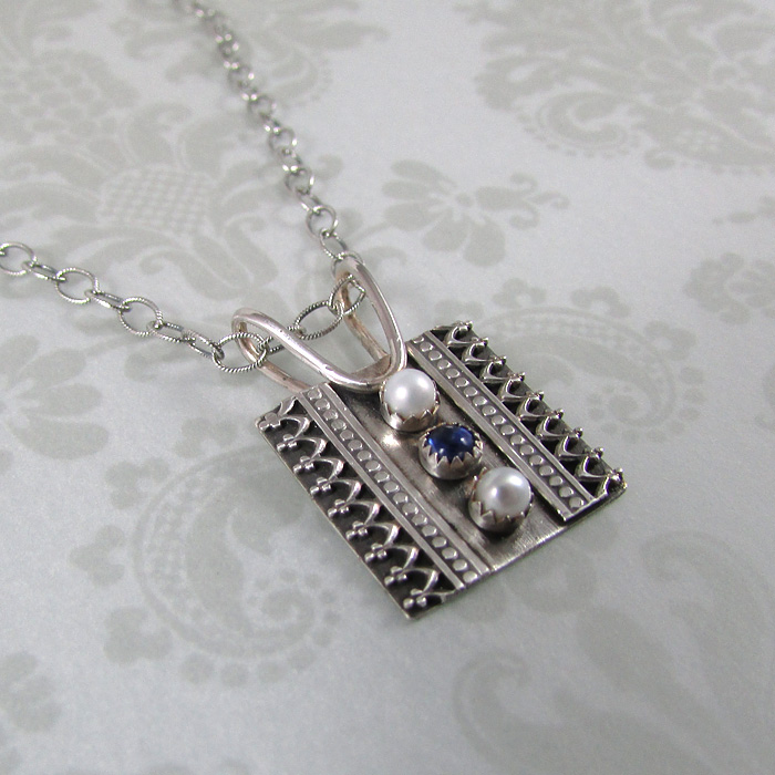 Be Crowned Kyanite and Pearl Charm Necklace