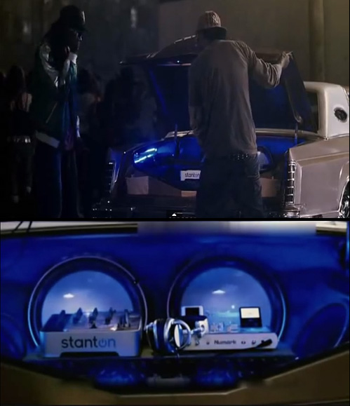 On-screen close-up of Stanton turntables in final dance scene in the film  Step Up 2