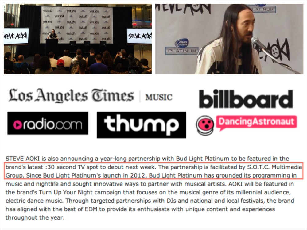 S.O.T.C. Multimedia Group was recognized in global press releases from both Aoki and Platinum