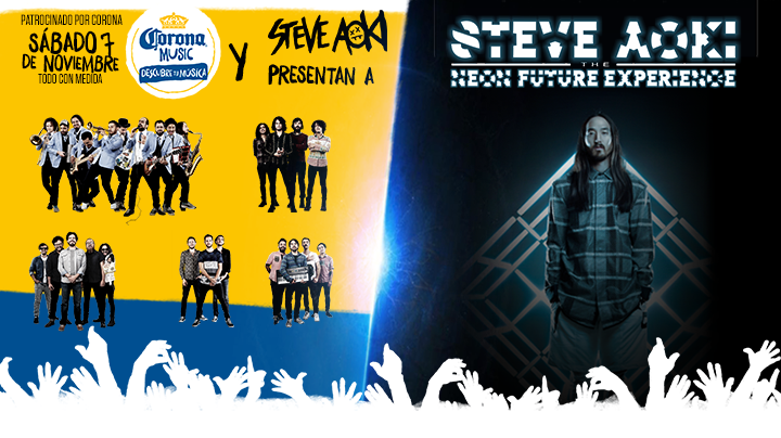 Corona Music campaign in Mexico.  Featuring Steve Aoki, Will.I.Am, Carlos Santana