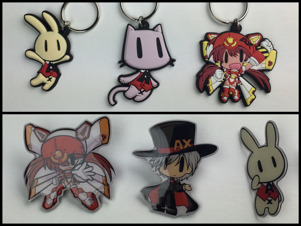 Custom pins and 3D/raised keychains