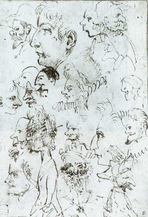 Annibale Carracci: caricature heads (c.1590)