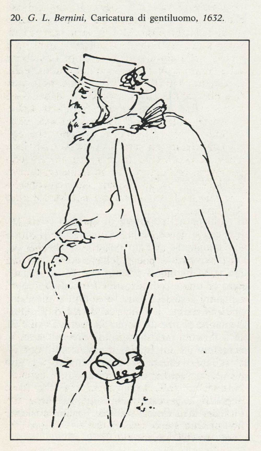 Caricature of a gentleman