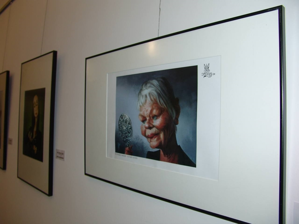 "Judi Dench caricature by Marzio Mariani has been featured in the Exhibition ""On the face"" in the Museum of Humor in Fene, Spain"