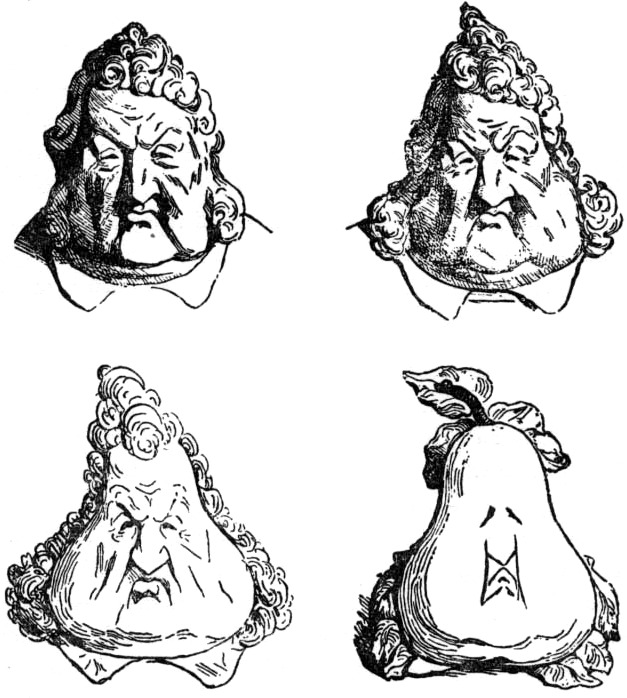 Louis Philippe as a pear