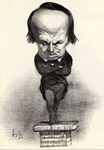 Victor Hugo - Caricature by Honoré Daumier