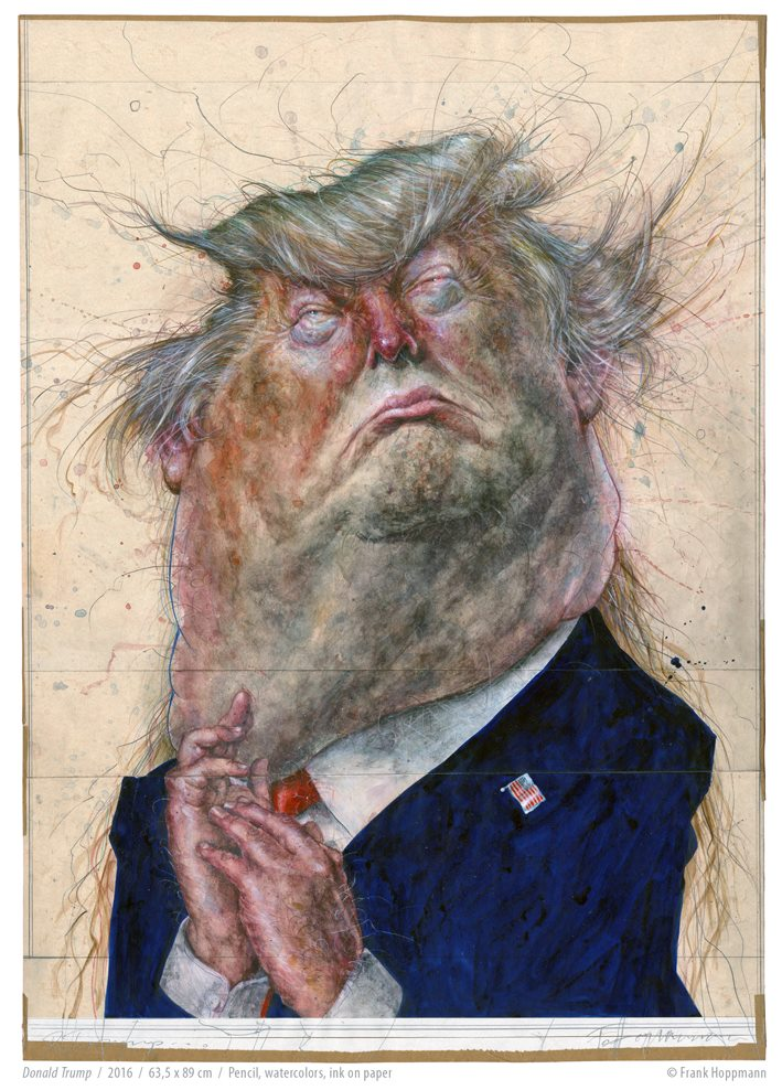 TOP 10  Trump  Caricatures  -