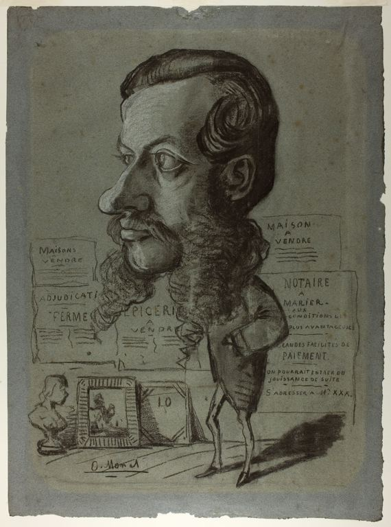 Caricature of Léon Manchon - Claude Monet