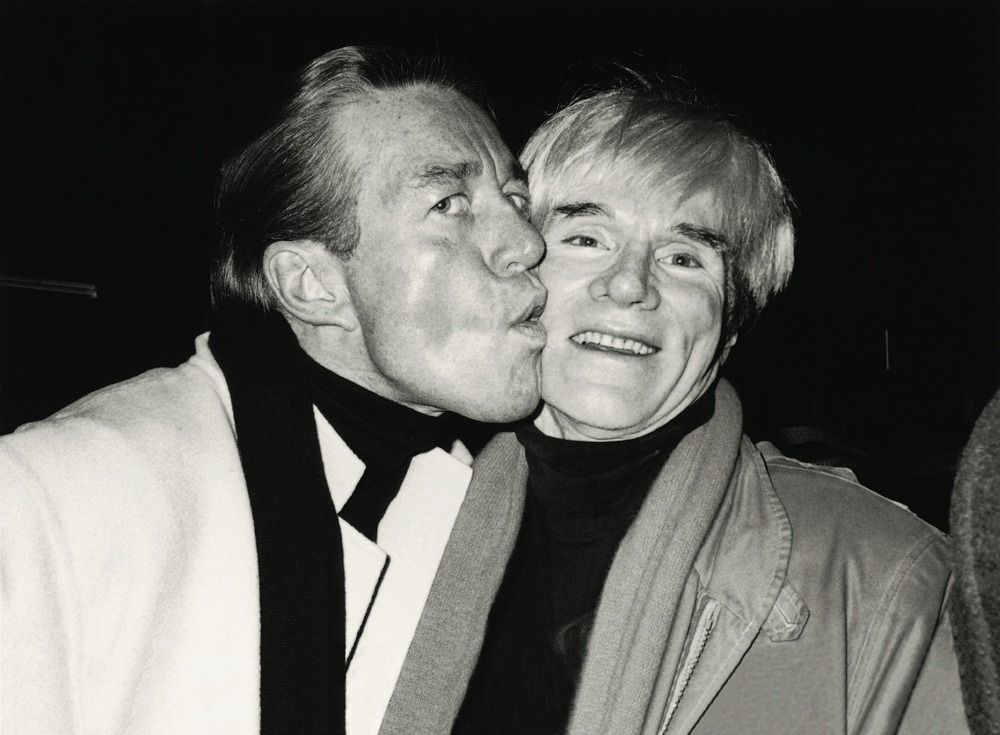 Halston and Andy Warhol