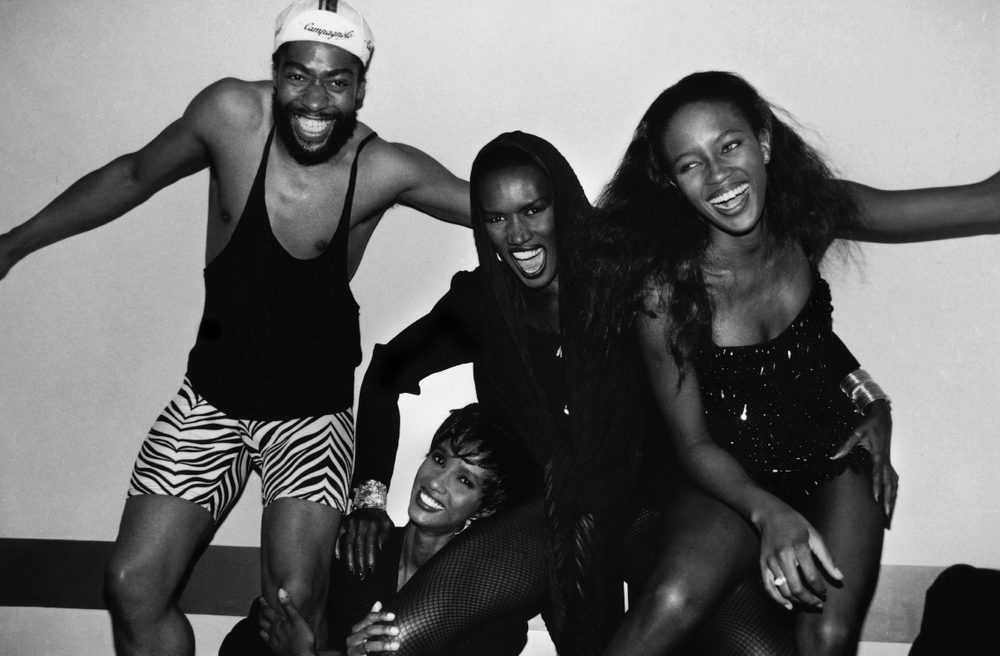 Patrick Kelly, Iman, Grace Jones and Naomi Campbell